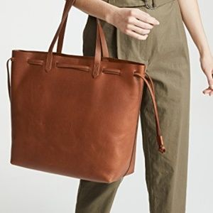 NWT MADEWELL Drawstring Transport Tote Tan Leather